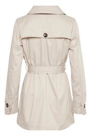 Cream Noa Trenchcoat - Front full body
