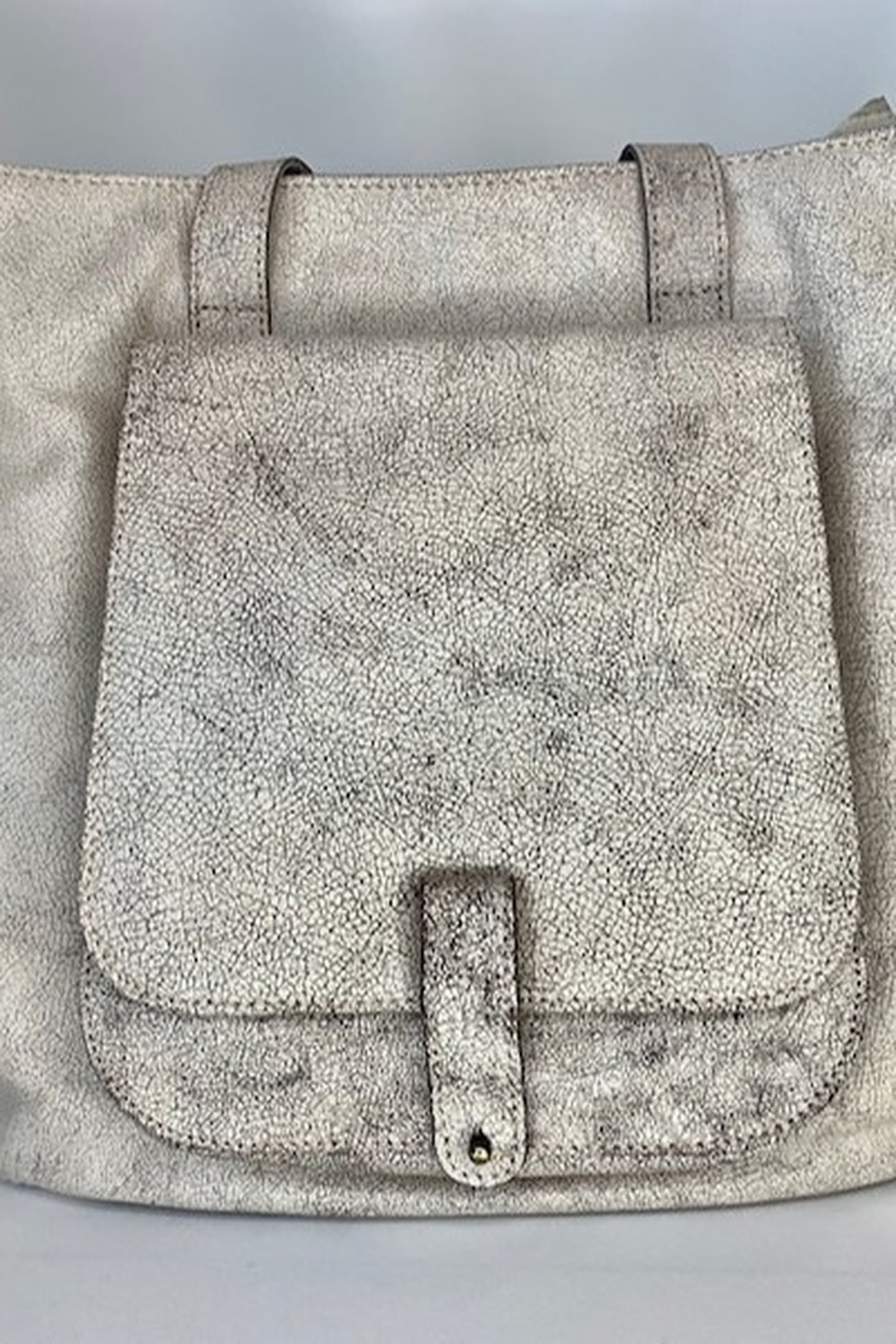 Latico Cream Oversize Hand Bag - Front Cropped Image