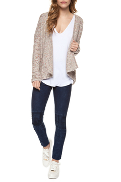 Shoptiques Product: Cream/Pink Open Cardi Sweater