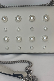 Frank Lyman Cream purse with pearl accents - Product Mini Image