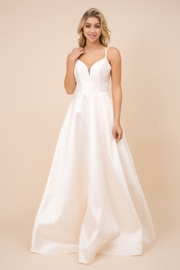 NOX A N A B E L Cream Satin Bridal Ballgown - Product Mini Image