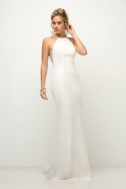 Cinderella Divine Cream Sequin Halter Bridal Gown - Product Mini Image