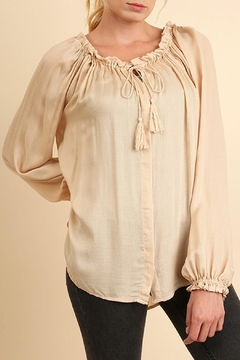 Shoptiques Product: Cream Silky-Feel Blouse