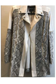 Insight Cream Snake Trimmed Jacket - Product Mini Image