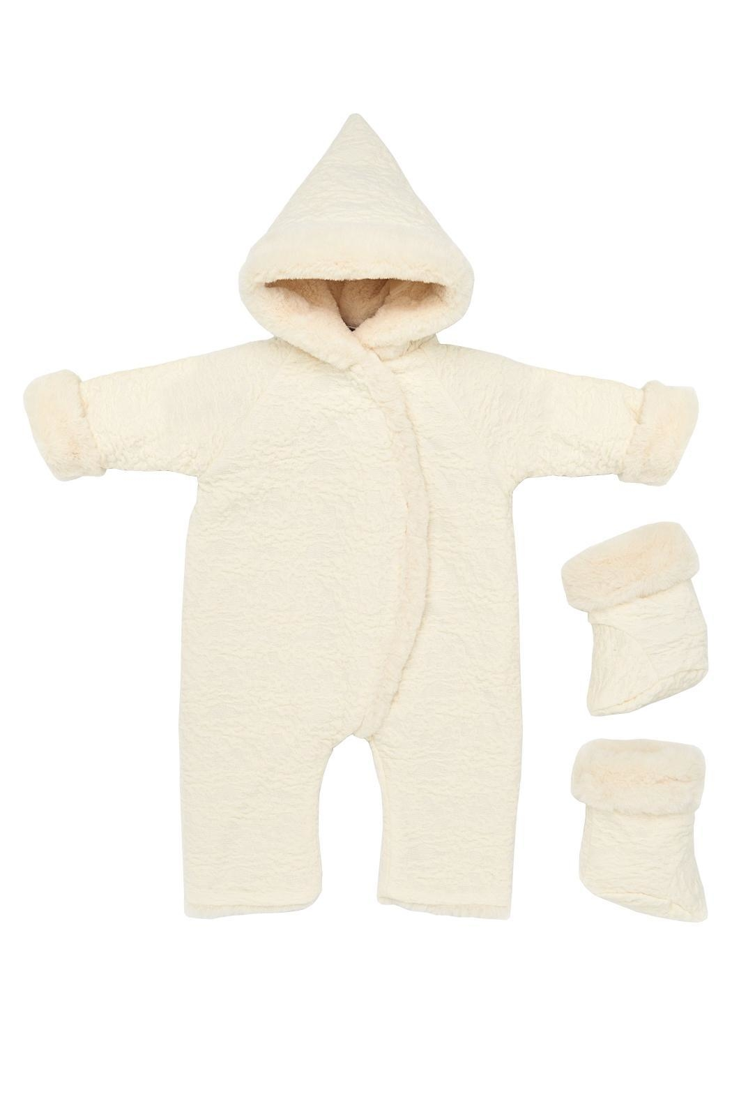 Paz Rodriguez Cream Snowsuit. - Main Image