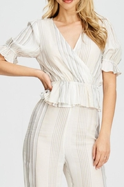 Emory Park Cream Stripe Top - Product Mini Image