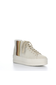 Shoptiques Product: Cream Suede Platform Sneaker with Ribbon Detail Water Proof