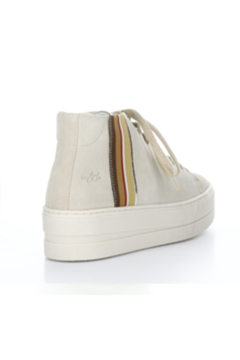 Bos & Co. Cream Suede Platform Sneaker with Ribbon Detail Water Proof - Alternate List Image