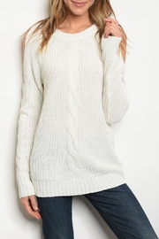 LoveRiche Cream Sweater - Product Mini Image