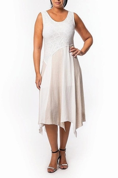 Bali Corp. Cream & Tan Linen Dress - Product List Image