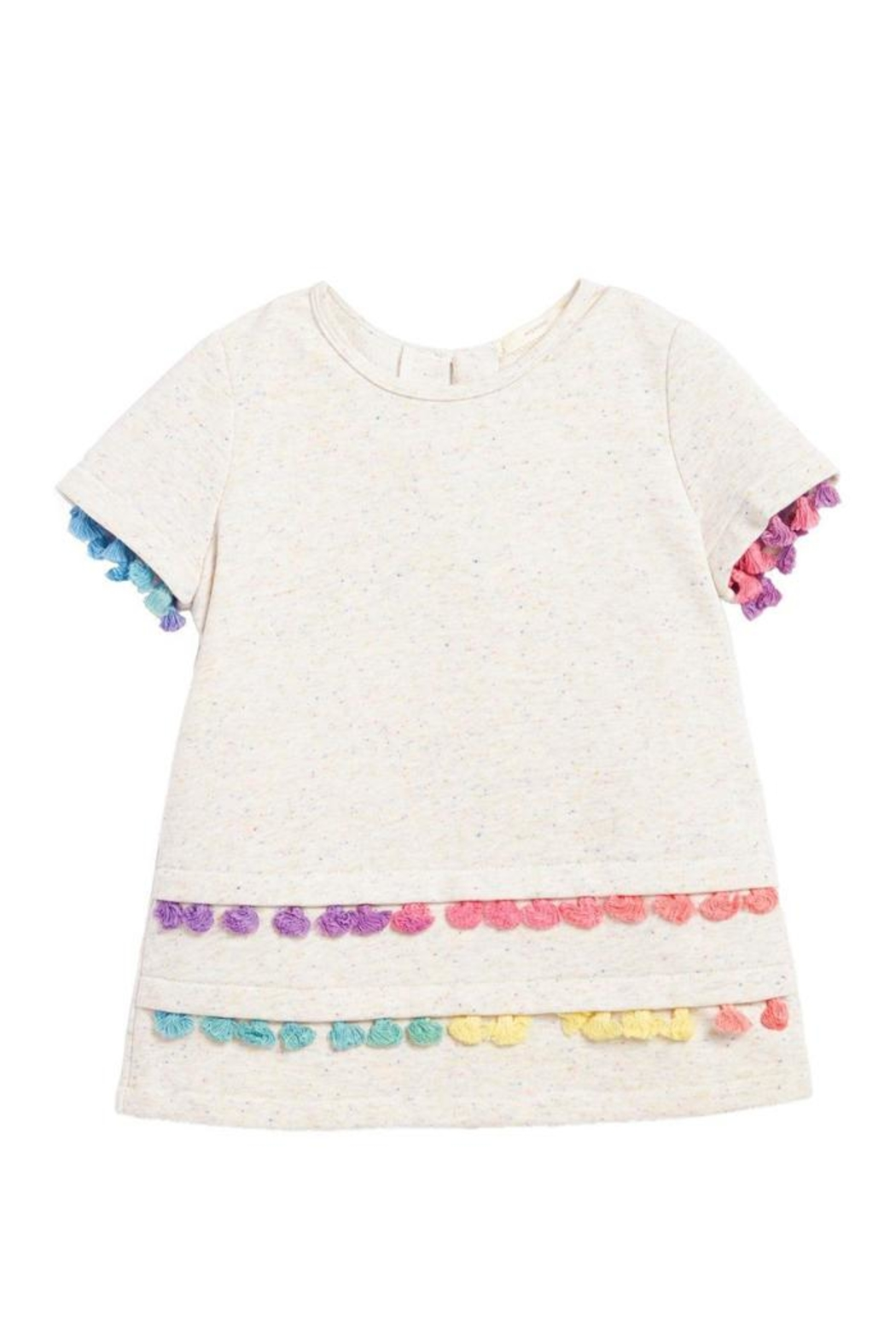 Soprano Cream Tassel Tee - Front Cropped Image