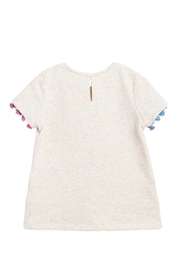 Soprano Cream Tassel Tee - Front full body