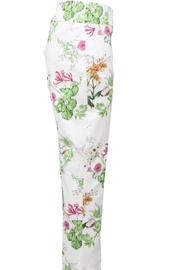 Joseph Ribkoff Cream white floral pant slim leg - Product Mini Image