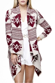 Tea & Cup Tribal Cardigan Sweater - Front cropped