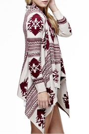 Tea & Cup Tribal Cardigan Sweater - Side cropped