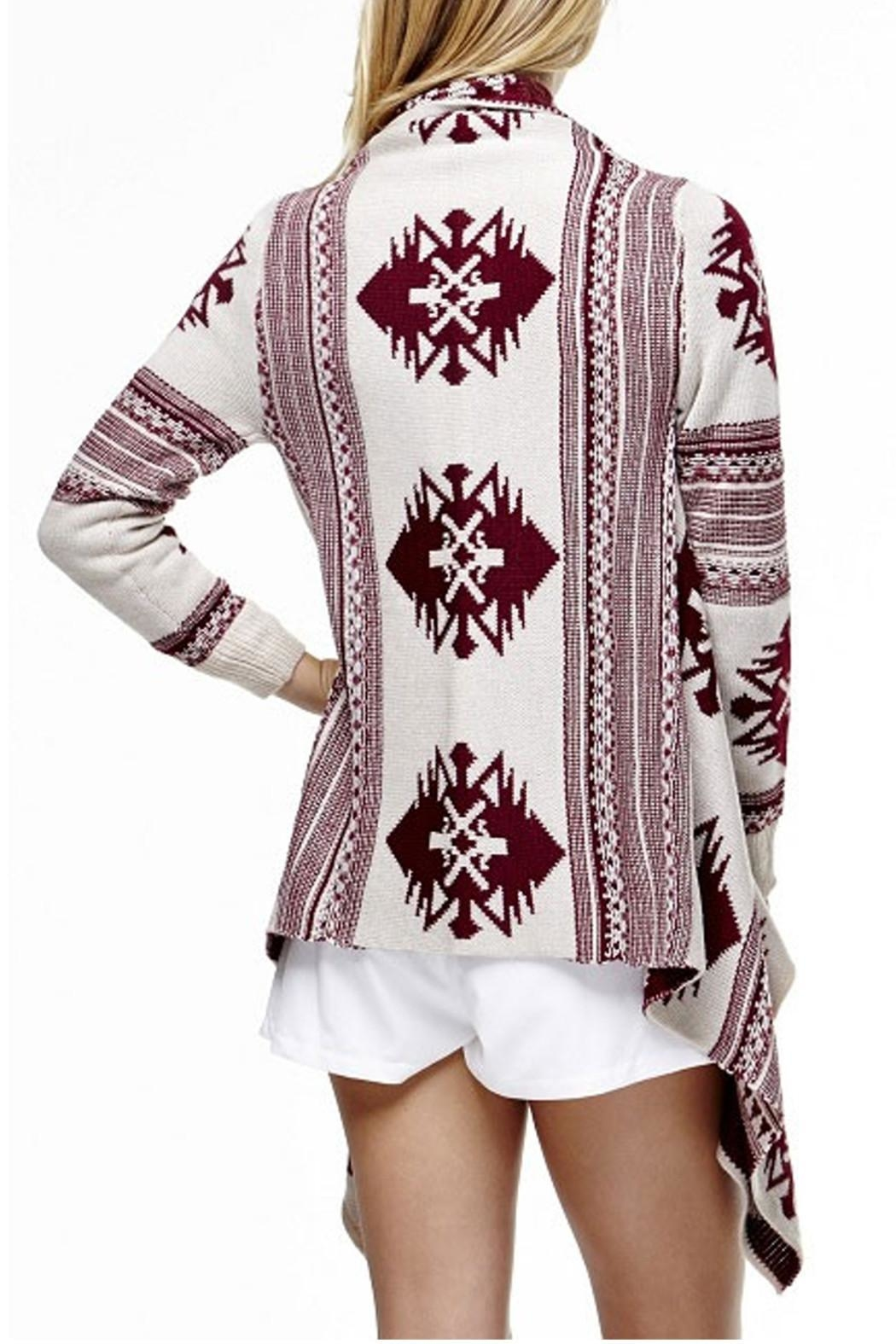 Tea & Cup Tribal Cardigan Sweater - Front Full Image