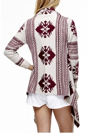 Tea & Cup Tribal Cardigan Sweater - Front full body