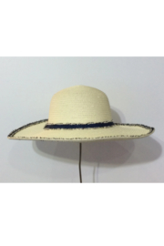 Cloie Cream with Navy Wide Brim Sun Hat - Product Mini Image