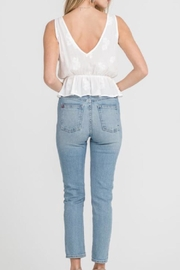 Lush Cream Woven Top - Front full body