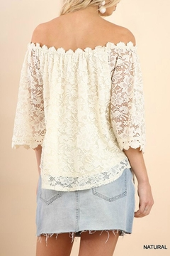 Umgee USA Creamy Lace Off-The-Shoulder - Alternate List Image