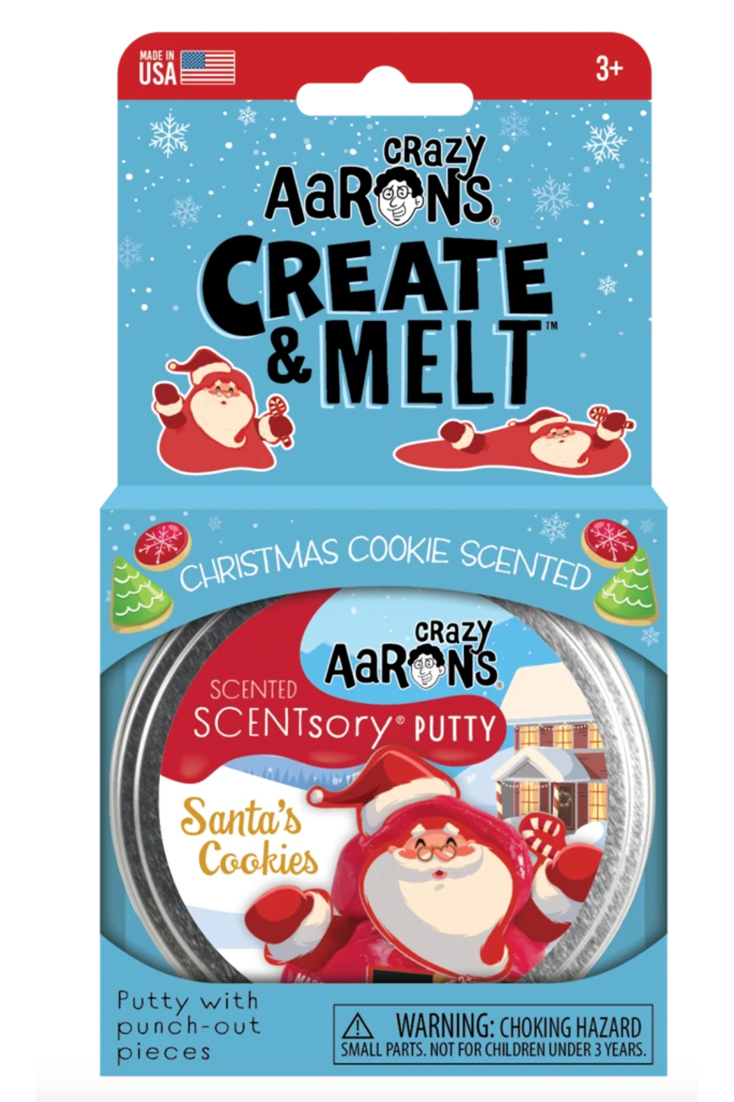 Crazy Aaron's  Creat & Melt Scentsory Putty: Santa's Cookie - Front Full Image