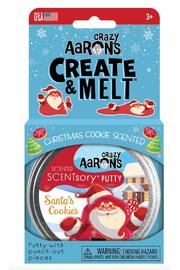 Crazy Aaron's  Creat & Melt Scentsory Putty: Santa's Cookie - Front full body