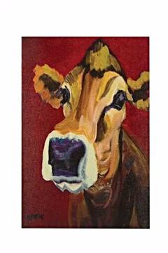 Shoptiques Product: Big Nose Cow Canvas