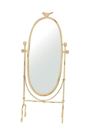 Creative Co-Op Bird Vanity Mirror - Front cropped