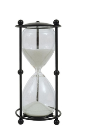 Creative Co-Op Black/white Hourglass - Product Mini Image