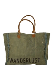 Creative Co-Op Canvas Wanderlust Tote - Product Mini Image