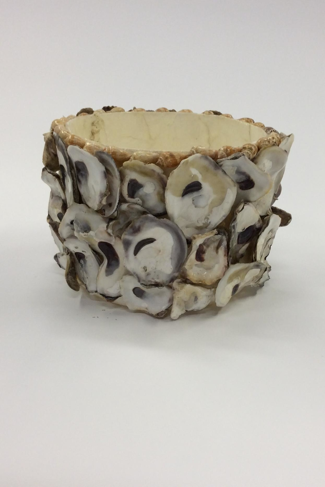 Creative Co-Op Large Capiz Oyster Container - Main Image