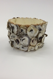 Creative Co-Op Large Capiz Oyster Container - Front cropped