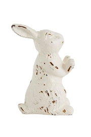 Creative Co-Op Cast Iron Rabbit - Front cropped