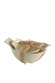 Creative Co-Op Ceramic Bird Bowls - Front cropped