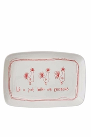 Creative Co-Op Chicken Platter - Front cropped