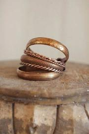 Creative Co-Op Copper Bangle Set of 6 - Product Mini Image