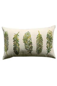 Shoptiques Product: Embroidered Feather Pillow