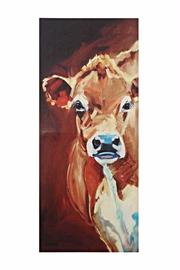 Creative Co-Op Favorite Cow Canvas - Product Mini Image