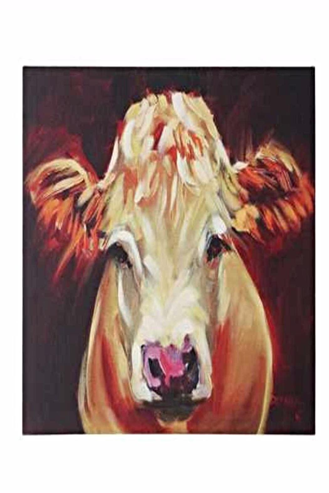 Creative Co-Op Fluffy Cow Canvas - Main Image