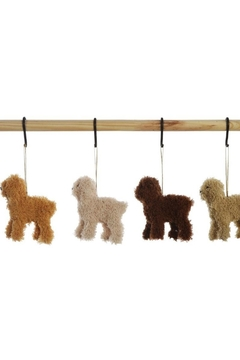 Creative Co-Op Furry Poodle Ornament - Alternate List Image