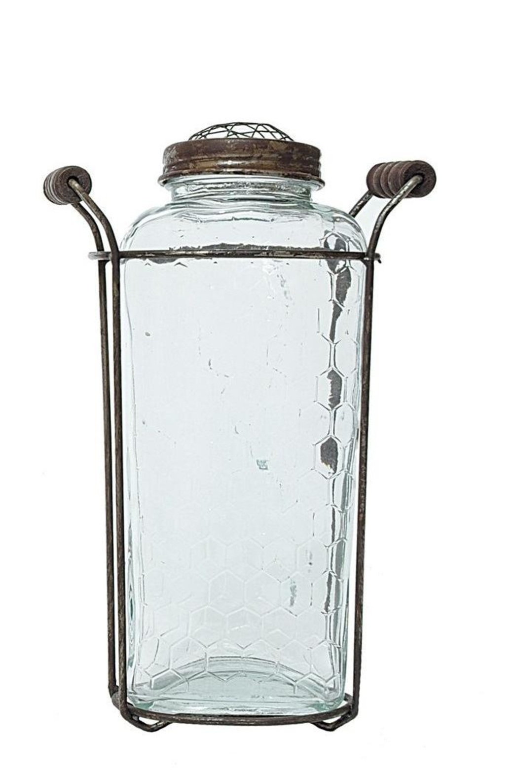 Creative Co-Op Glass/metal Vase - Main Image