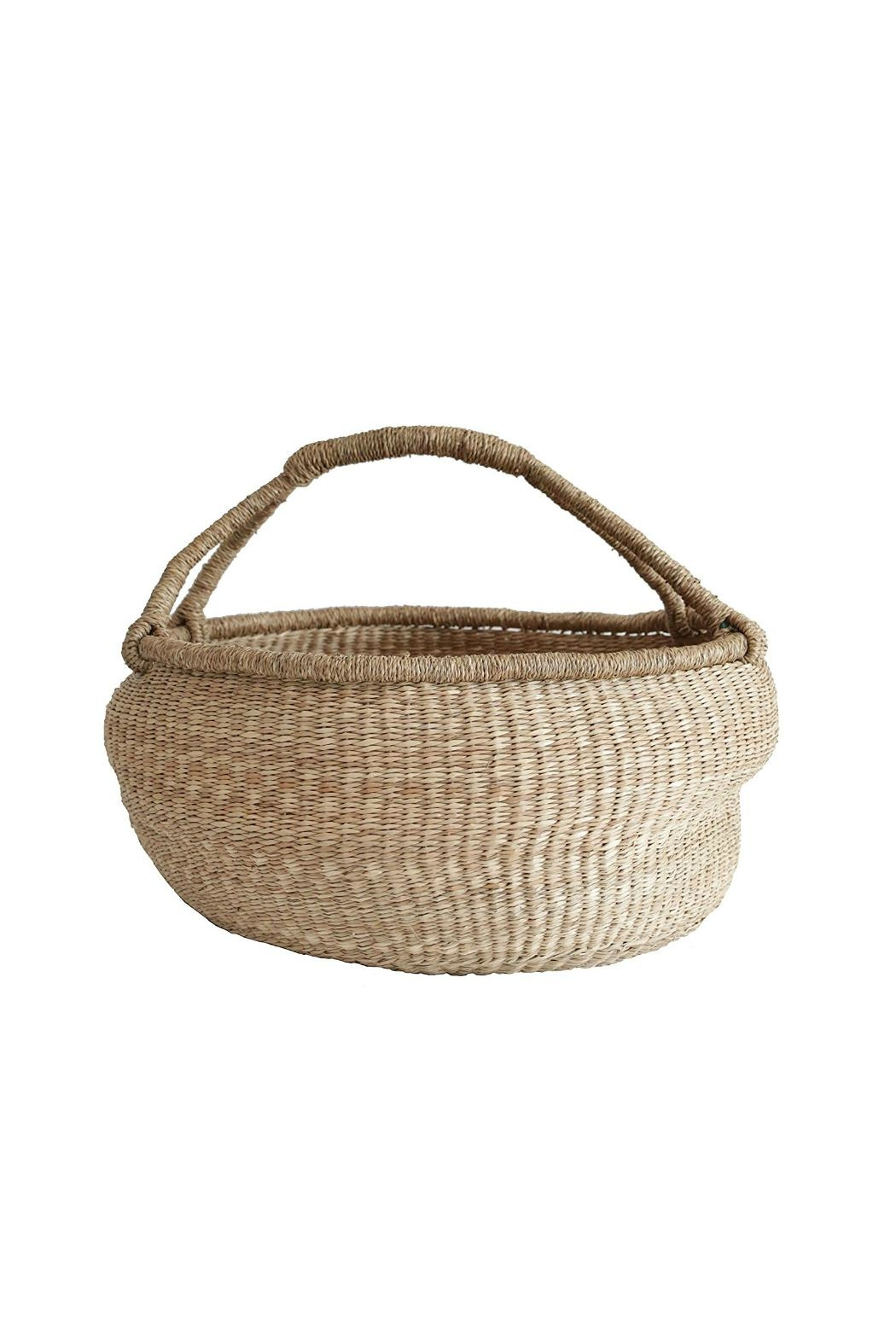 Creative Co-Op Large Round Seagrass Basket - Main Image