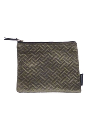Creative Co-Op Large Velvet Pouch - Front cropped