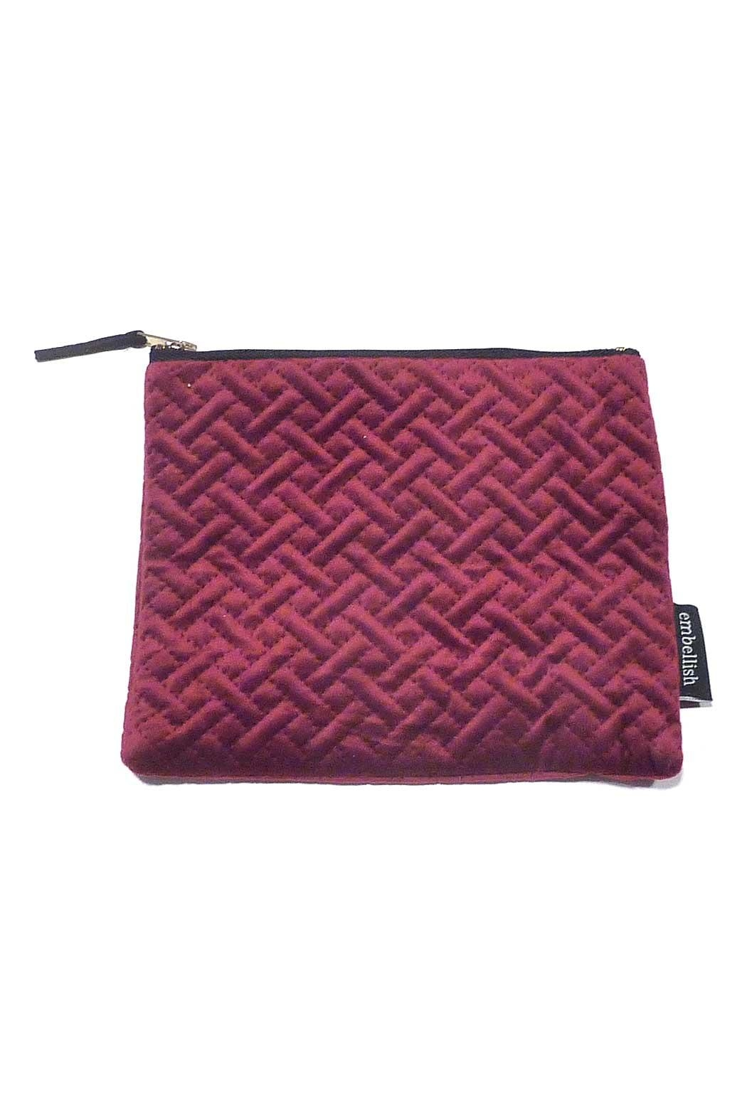 Creative Co-Op Large Velvet Pouch - Front Cropped Image