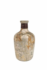 Creative Co-Op Marble Glass Bottle - Front cropped