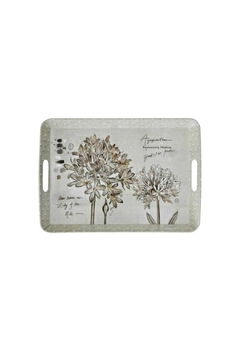 Creative Co-Op Melamine Floral Tray - Alternate List Image