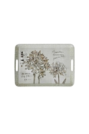 Creative Co-Op Melamine Floral Tray - Product Mini Image