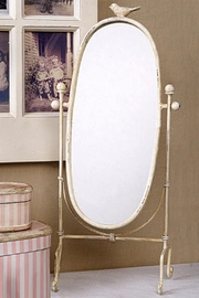 Creative Co-Op Personal Tilting Mirror - Front full body