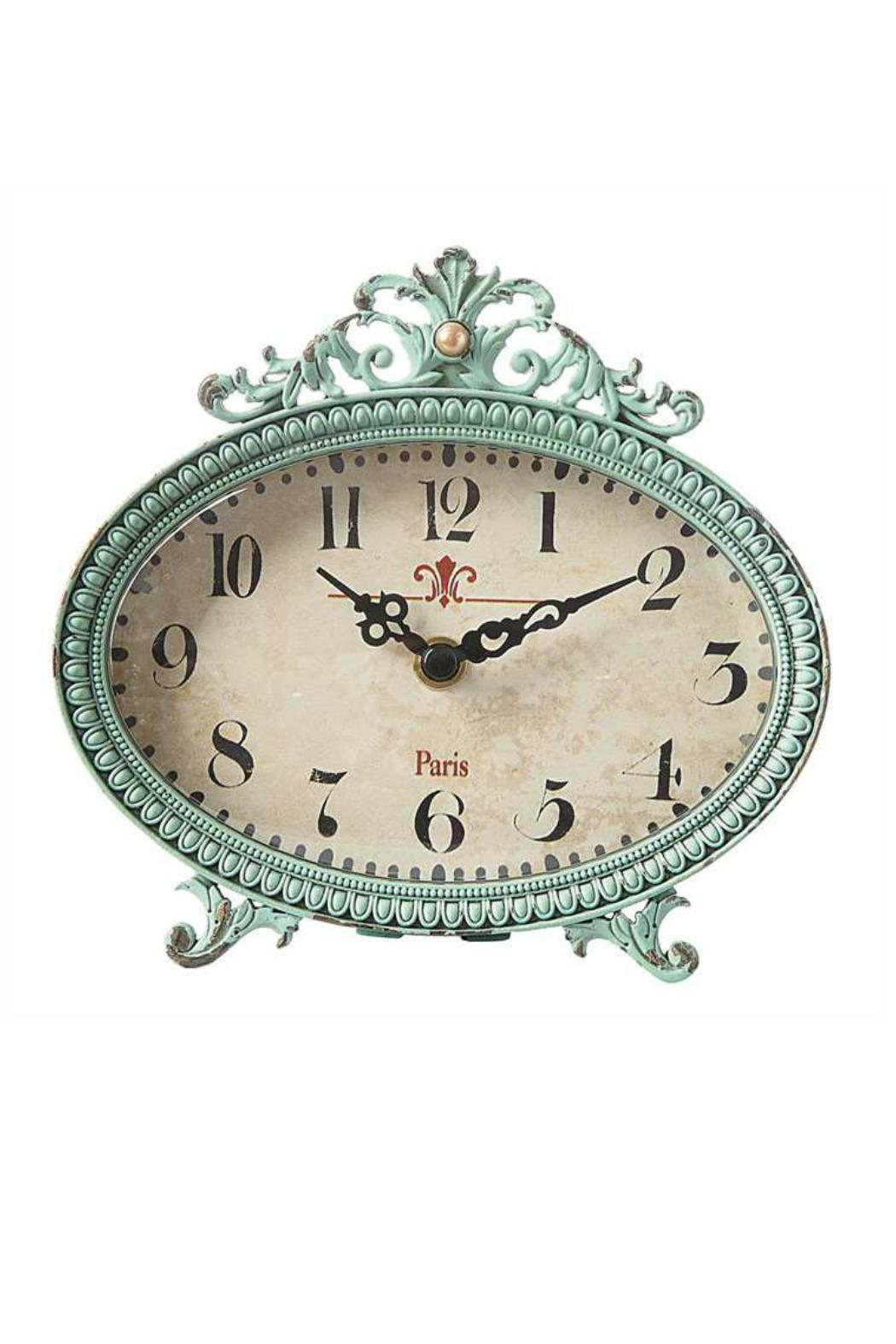 Creative Co-Op Pewter Mantle Clock - Main Image
