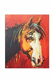 Creative Co-Op Rustic Horse Canvas - Front cropped